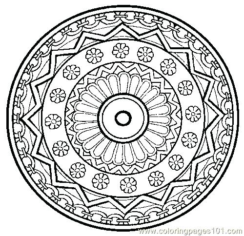 500x484 Free Mandala Coloring Pages To Print