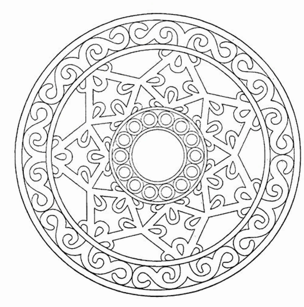 1000x1010 Free Mandala Coloring Pages To Print