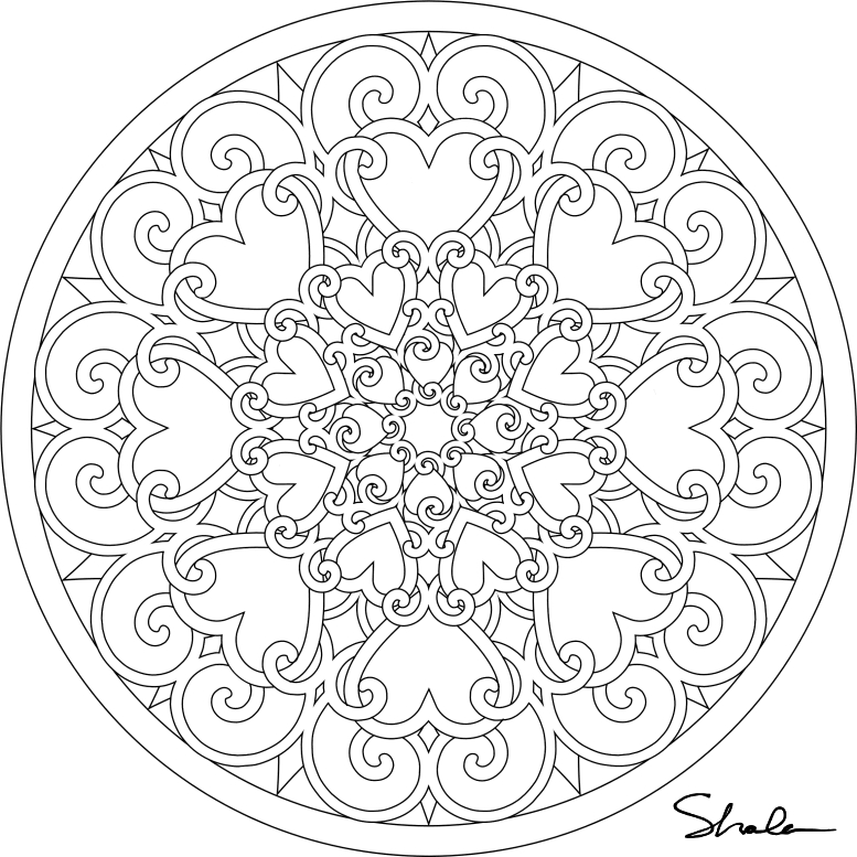 777x777 Free Mandala Coloring Sheets Download