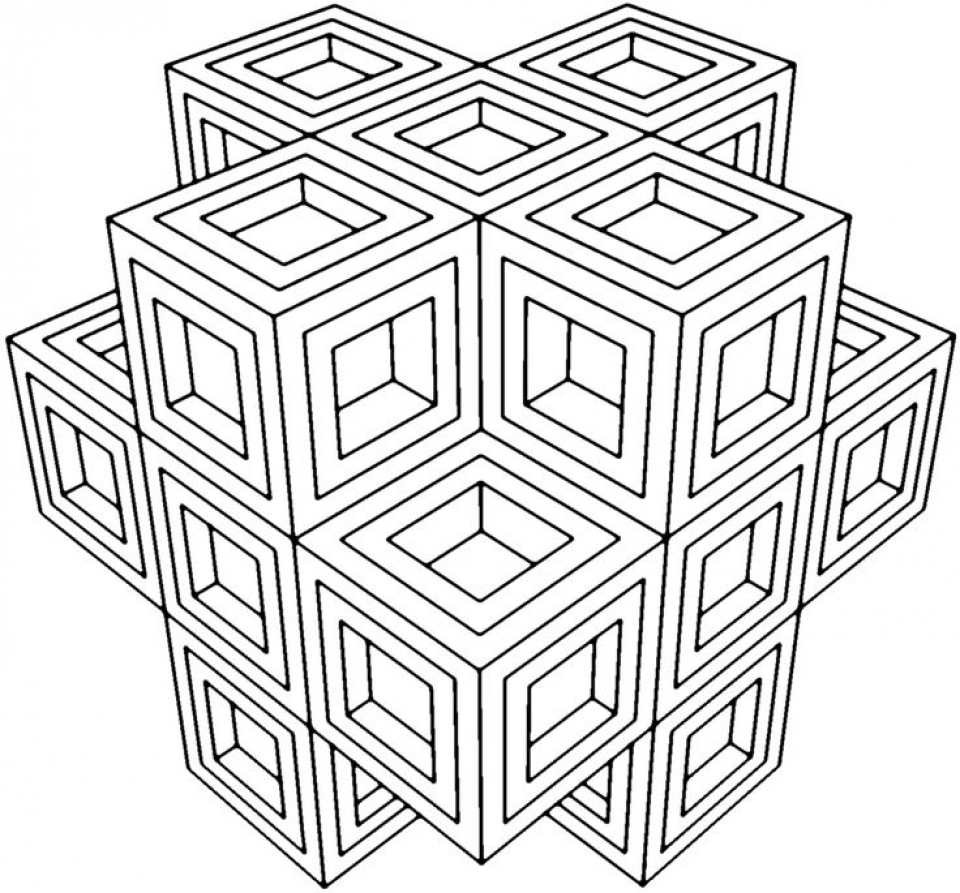 960x893 Free Printable Geometric Coloring Pages Everfreecoloring