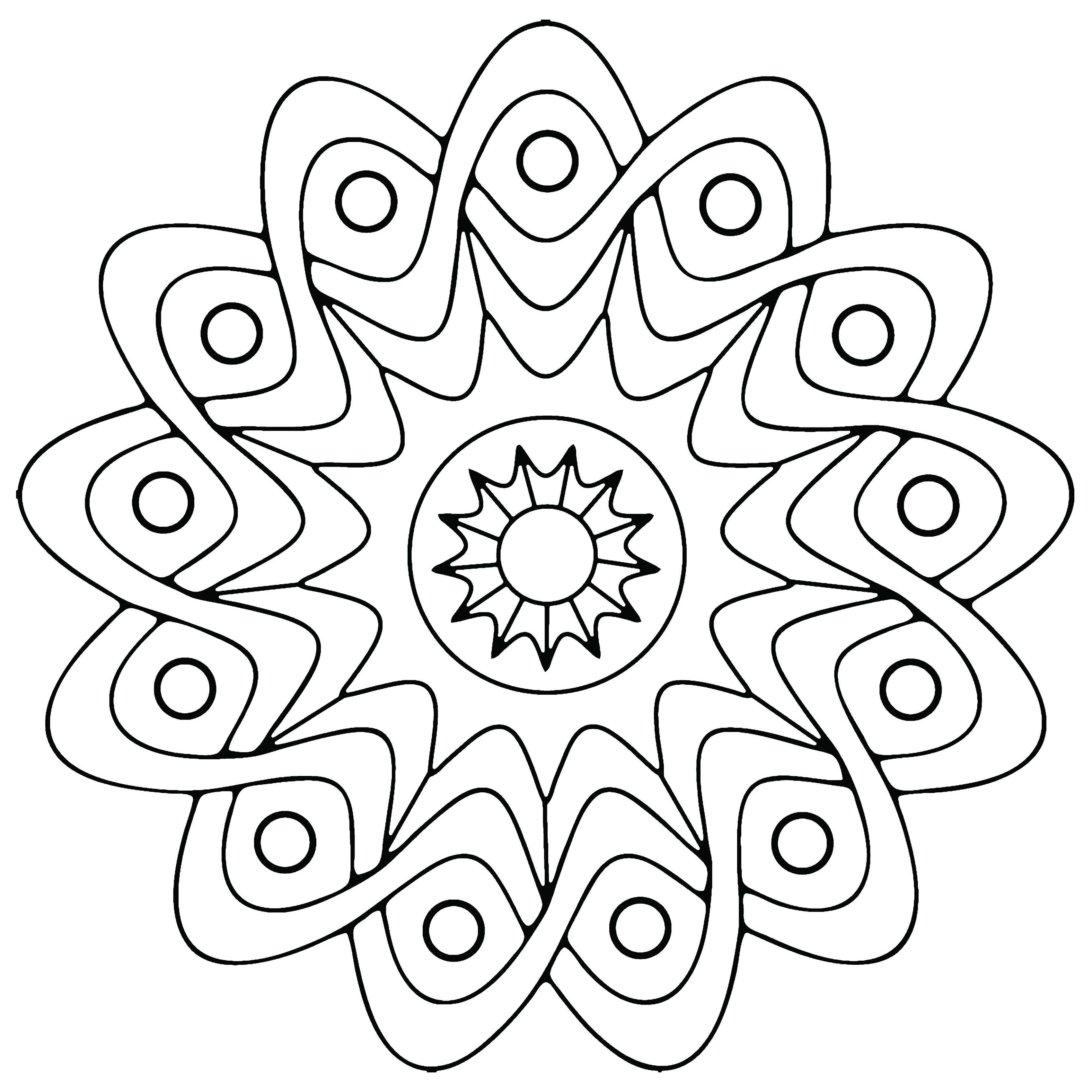 3400x3400 Free Printable Geometric Coloring Pages For Kids