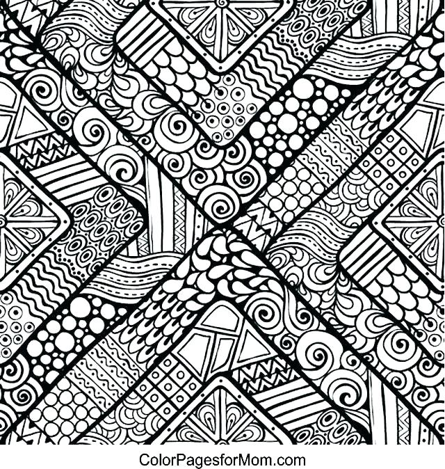 640x674 Geometric Pattern Coloring Pages Cool Pattern Coloring Pages