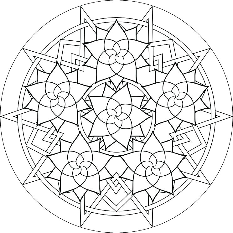 744x744 Geometry Coloring Pages Geometric Coloring Pages Free Geometric