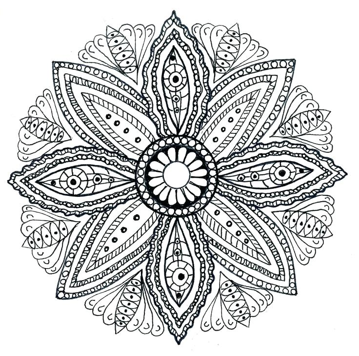 736x729 Printable Mandala Coloring Pages For Adults Free Coloring Mandalas