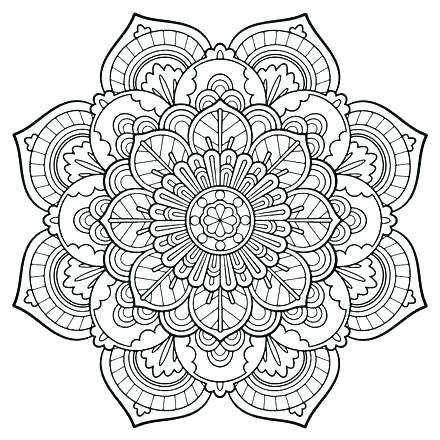 440x440 Printable Mandala Coloring Pages Free