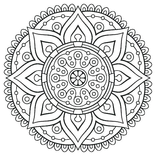 500x500 Easy Printable Mandala Coloring Pages