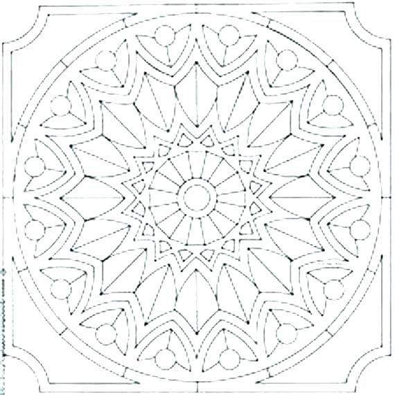 570x570 Free Pattern Coloring Pages