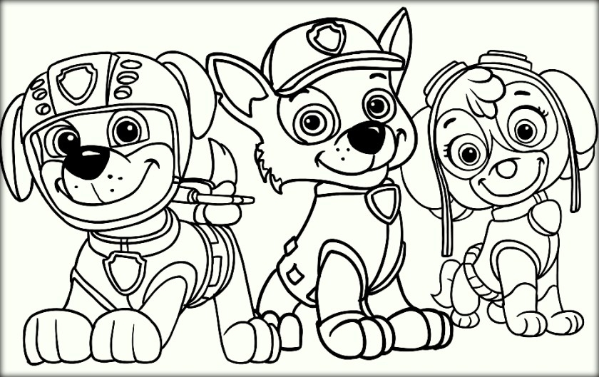 Free Paw Patrol Coloring Pages At GetDrawings Free Download