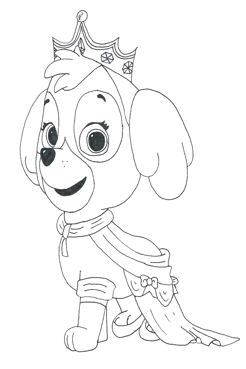 Free paw patrol coloring pages at getdrawings com free for