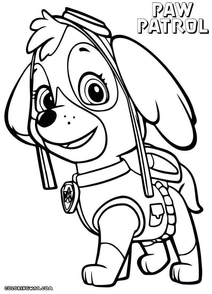 720x1000 Free Printable Paw Patrol Coloring Pages Inspirational Skye Paw