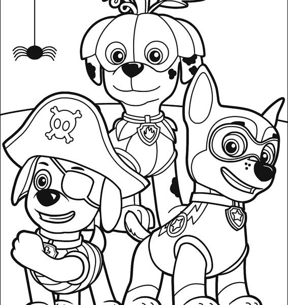 567x600 Free Printable Paw Patrol Coloring Pages Free Download Coloring