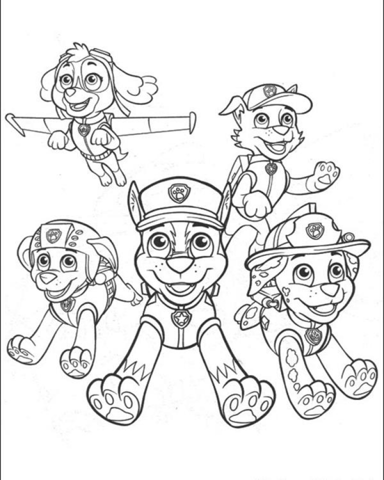 768x960 Get This Paw Patrol Coloring Pages Free Printable !