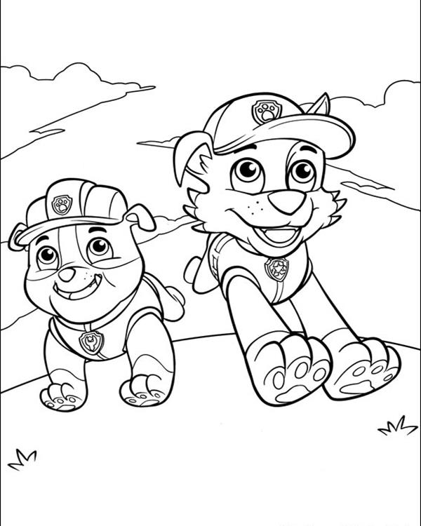 600x750 Paw Patrol Coloring Pages