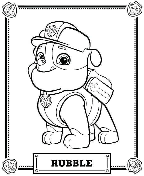 576x701 Paw Patrol Coloring Pages To Print Coloring Pages Of Paw Patrol