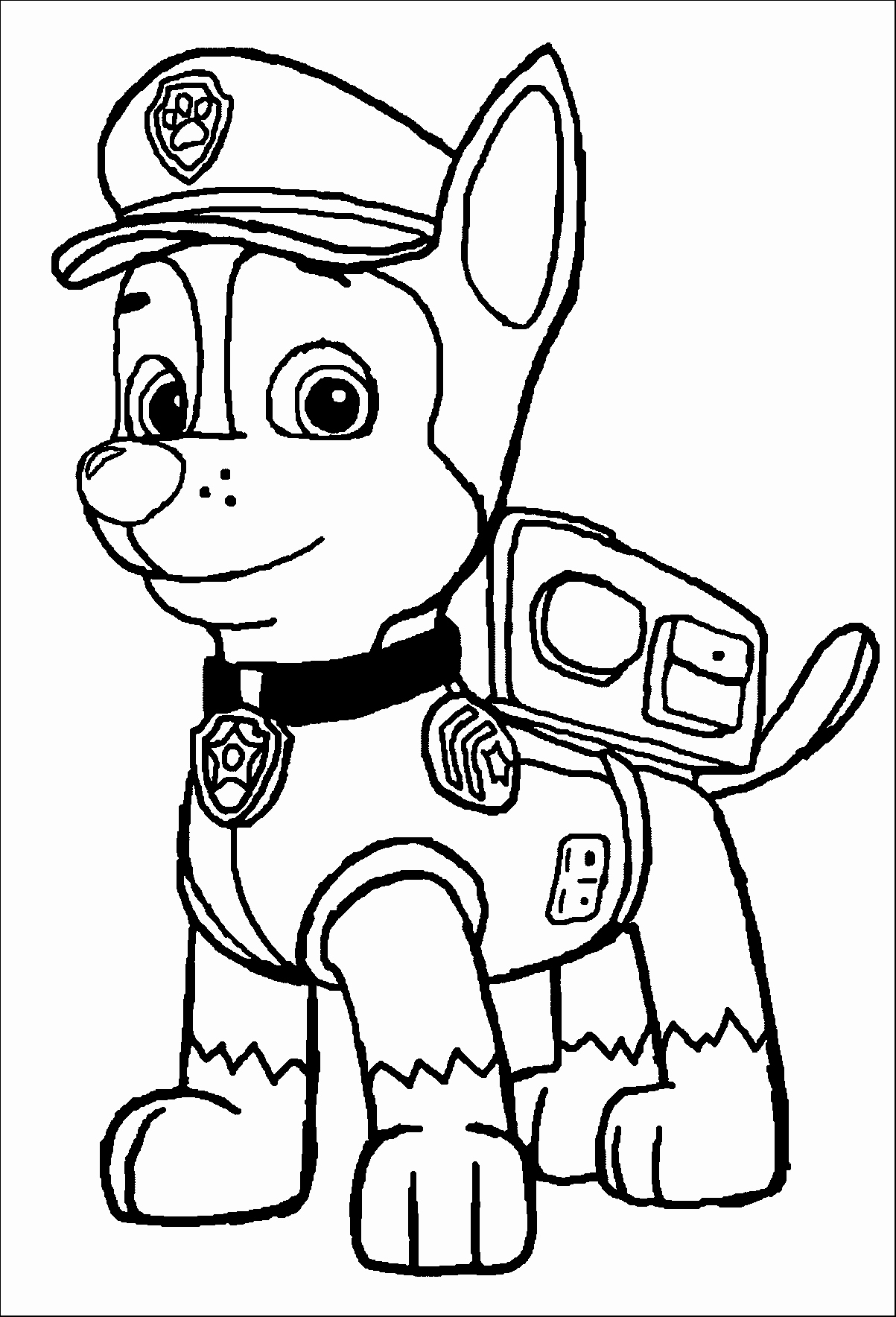 1203x1768 Paw Patrol Coloring Pages Unique Chase Paw Patrol Coloring Page