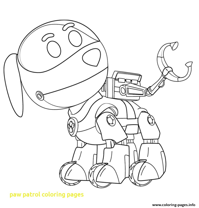 834x872 Paw Patrol Coloring Pages With Paw Patrol Coloring Pages Free