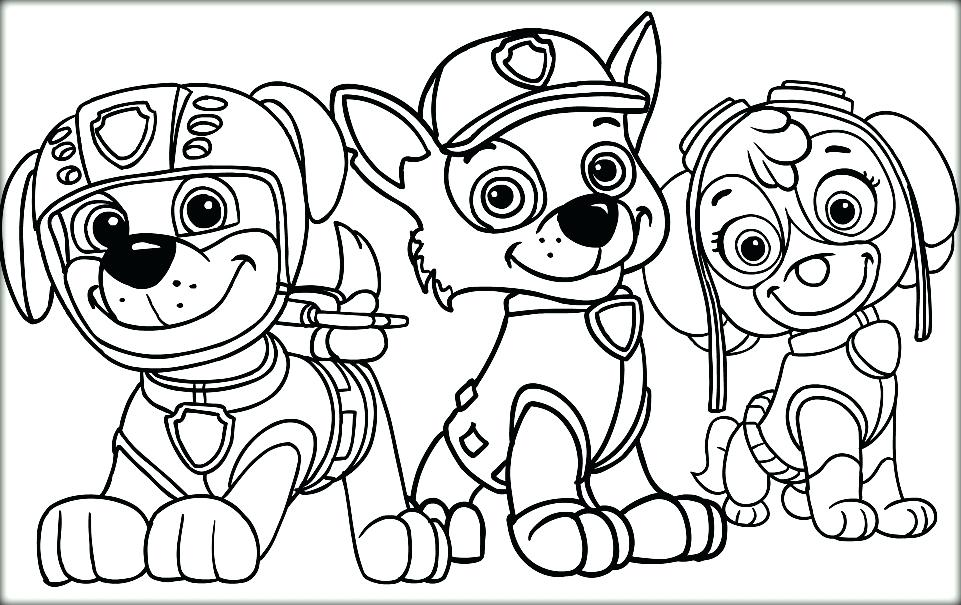 961x605 Paw Patrol Printable Coloring Pages As Well As Paw Patrol Coloring