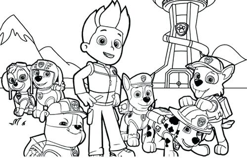 Free Paw Patrol Coloring Pages To Print At Getdrawings Com Free
