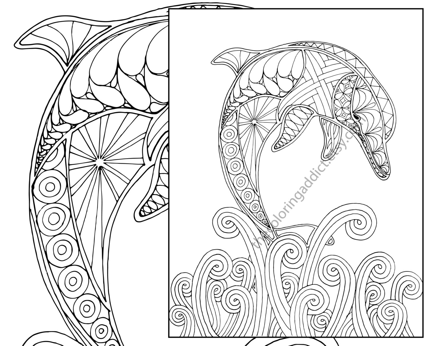 1500x1203 Best Of Dolphin Coloring Page Adult Coloring Sheet Nautical