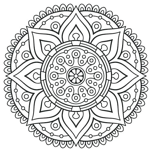 500x500 Mandalas Coloring Pages For Adults