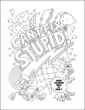 334x432 Swear Word Adult Coloring Pages