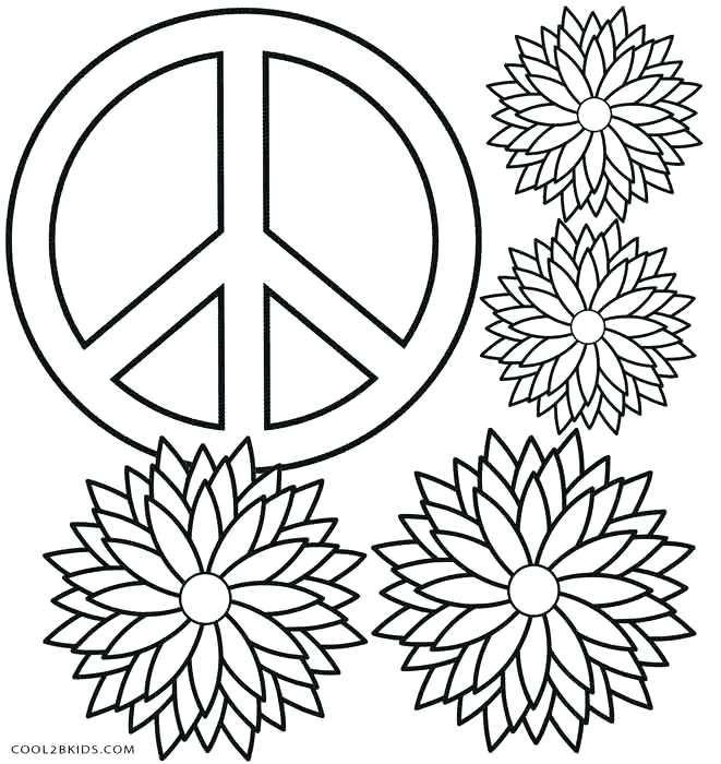 661x700 Free Printable Peace Sign Coloring Pages Peace Sign Coloring Pages