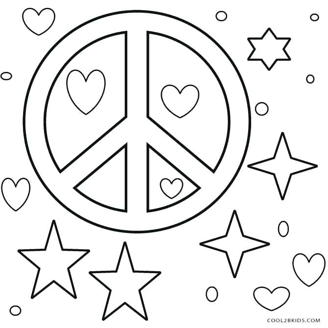 670x670 Free Printable Peace Sign Coloring Pages Peace Signs Coloring