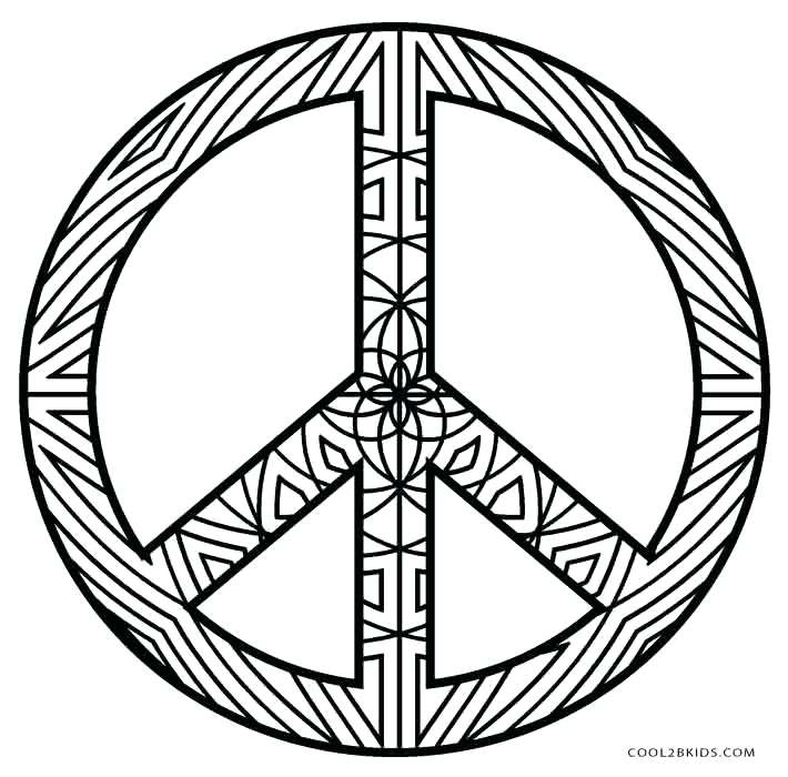 710x700 Free Printable Peace Sign Coloring Pages Printable Peace Sign