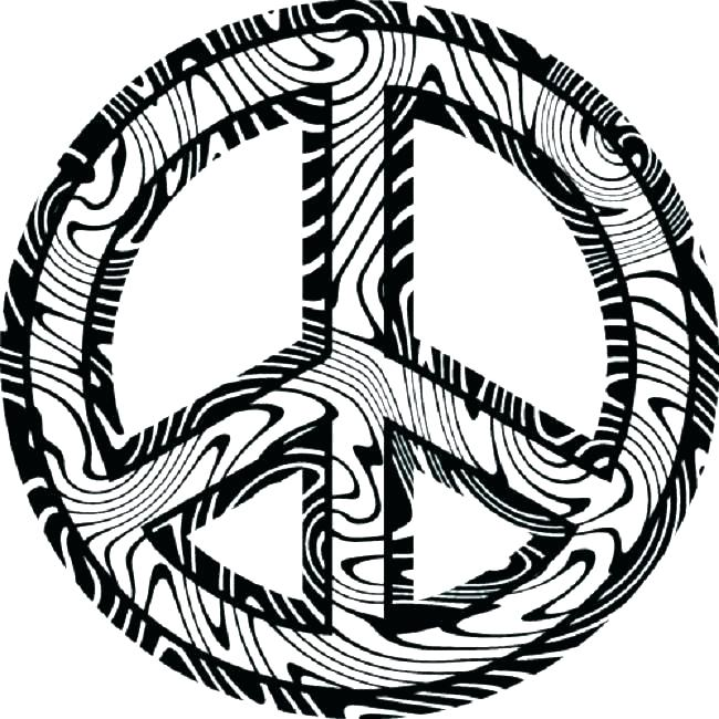 650x650 Peace Sign Coloring Page Free Printable Peace Sign Coloring Pages