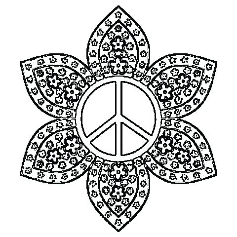 480x480 Peace Sign Coloring Pages