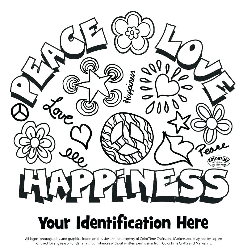 800x800 Coloring Pages Of Peace Signs Free Peace Sign Coloring Pages
