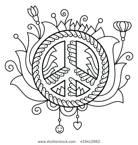 450x470 Peace Symbol Coloring Pages Peace Signs Coloring Pages Peace Sign