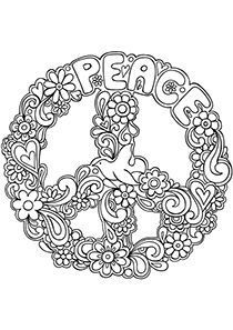 210x297 Simple And Attractive Free Printable Peace Sign Coloring Pages