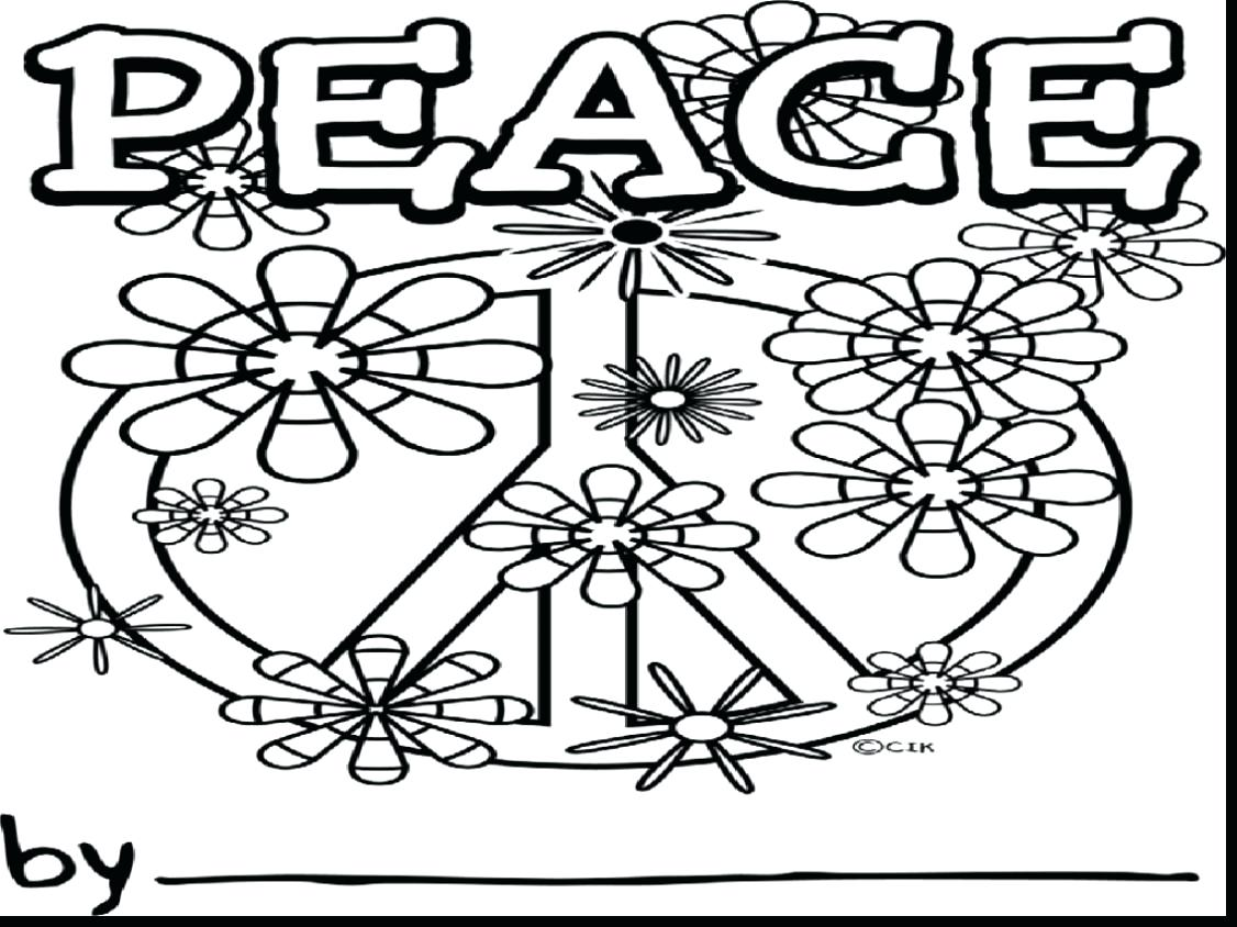 1126x844 Coloring Pages Peace Sign Coloring Pages Printable Free Peace
