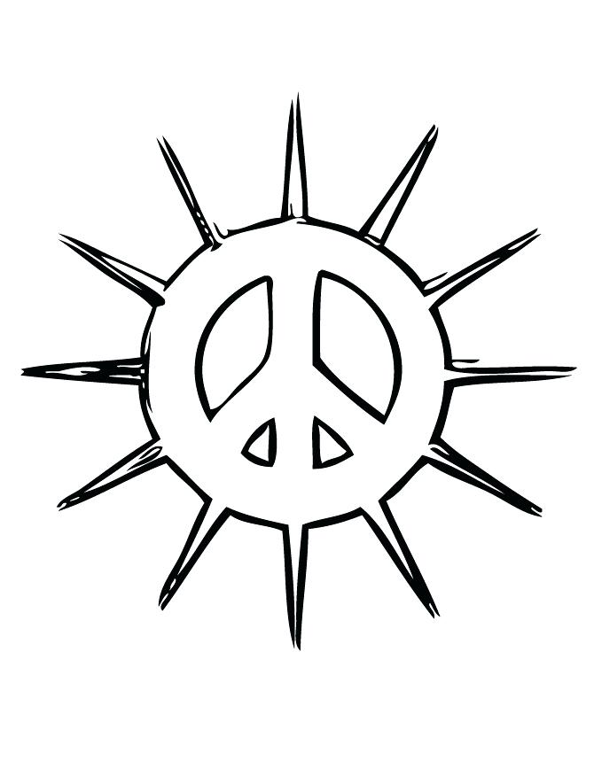 670x867 Coloring Pages Of Peace Signs Peace Sign Coloring Sheets Free