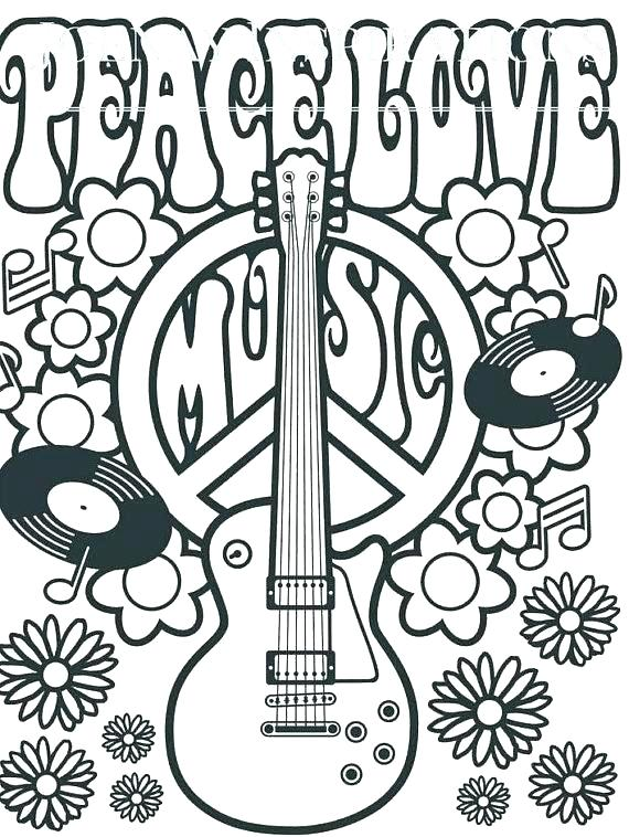 570x758 Hippie Flower Coloring Pages Deepart