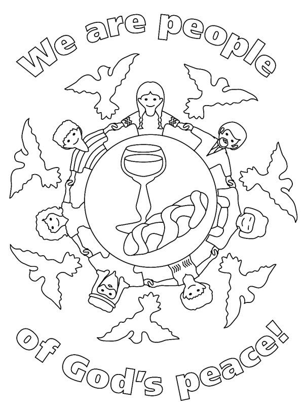 600x806 Drawn Peace Sign Coloring Picture