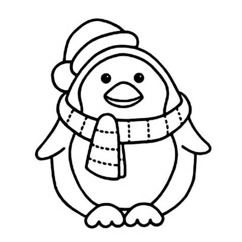 480x480 Christmas Penguin Coloring Pages Az Coloring Pages Coloring