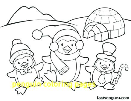 438x338 Free Penguin Coloring Pages Baby Penguin Coloring Pages Baby