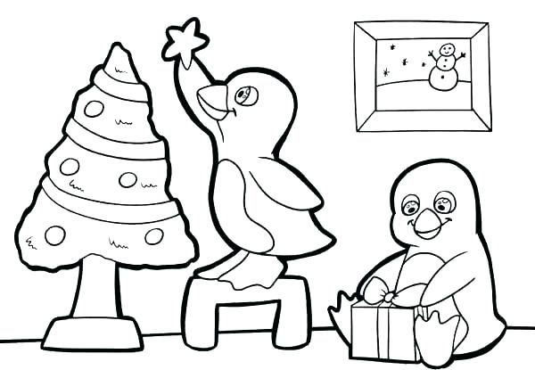 600x415 Free Penguin Coloring Pages Baby Penguin Coloring Pages Free