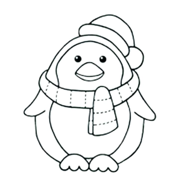 736x736 Penguin Coloring Pages Free Printable Free Penguin Coloring Pages
