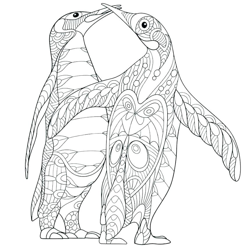 Free Penguin Coloring Pages At Getdrawings Com Free For Personal
