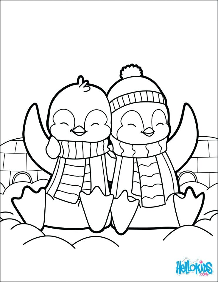 742x960 Cute Baby Penguin Coloring Pages