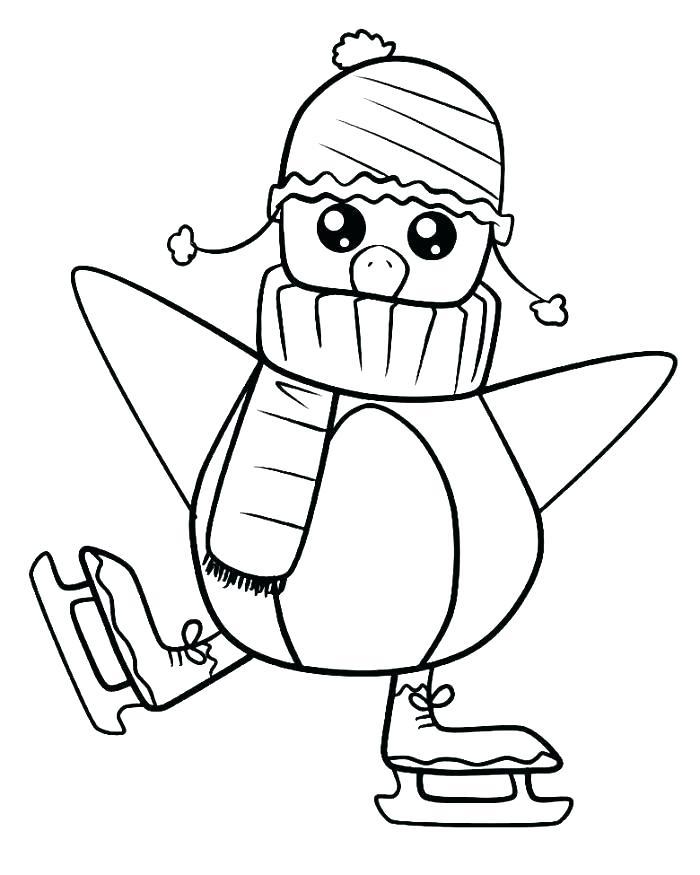 700x875 Penguin Color Pages