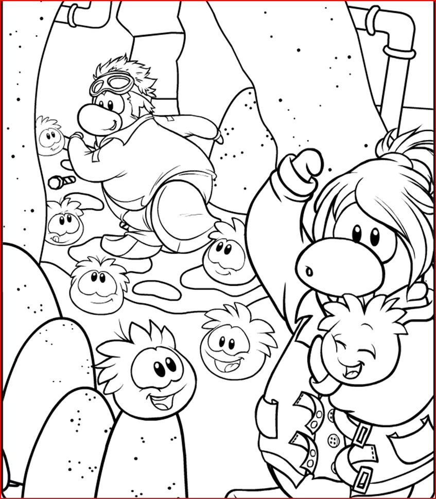 847x971 Club Penguin Coloring Pages Ninja Club Penguin Coloring Pages