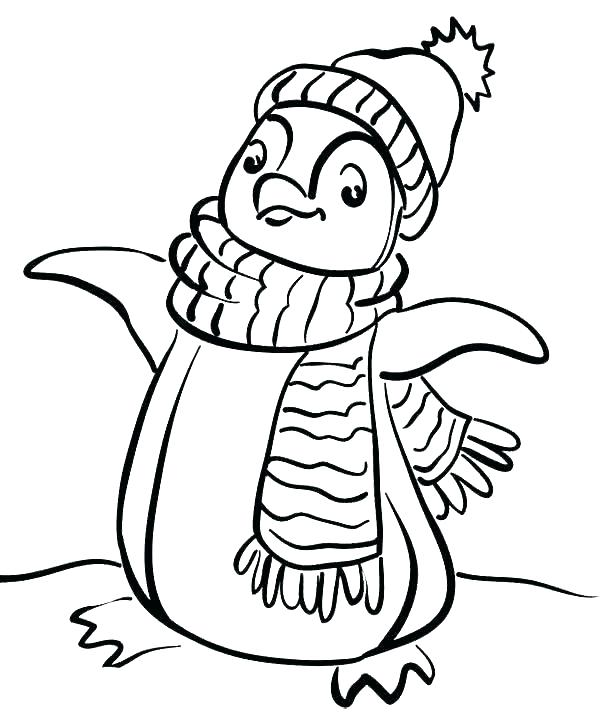 600x715 Cute Penguin Coloring Sheets Free Penguins Page Pages Of Printable