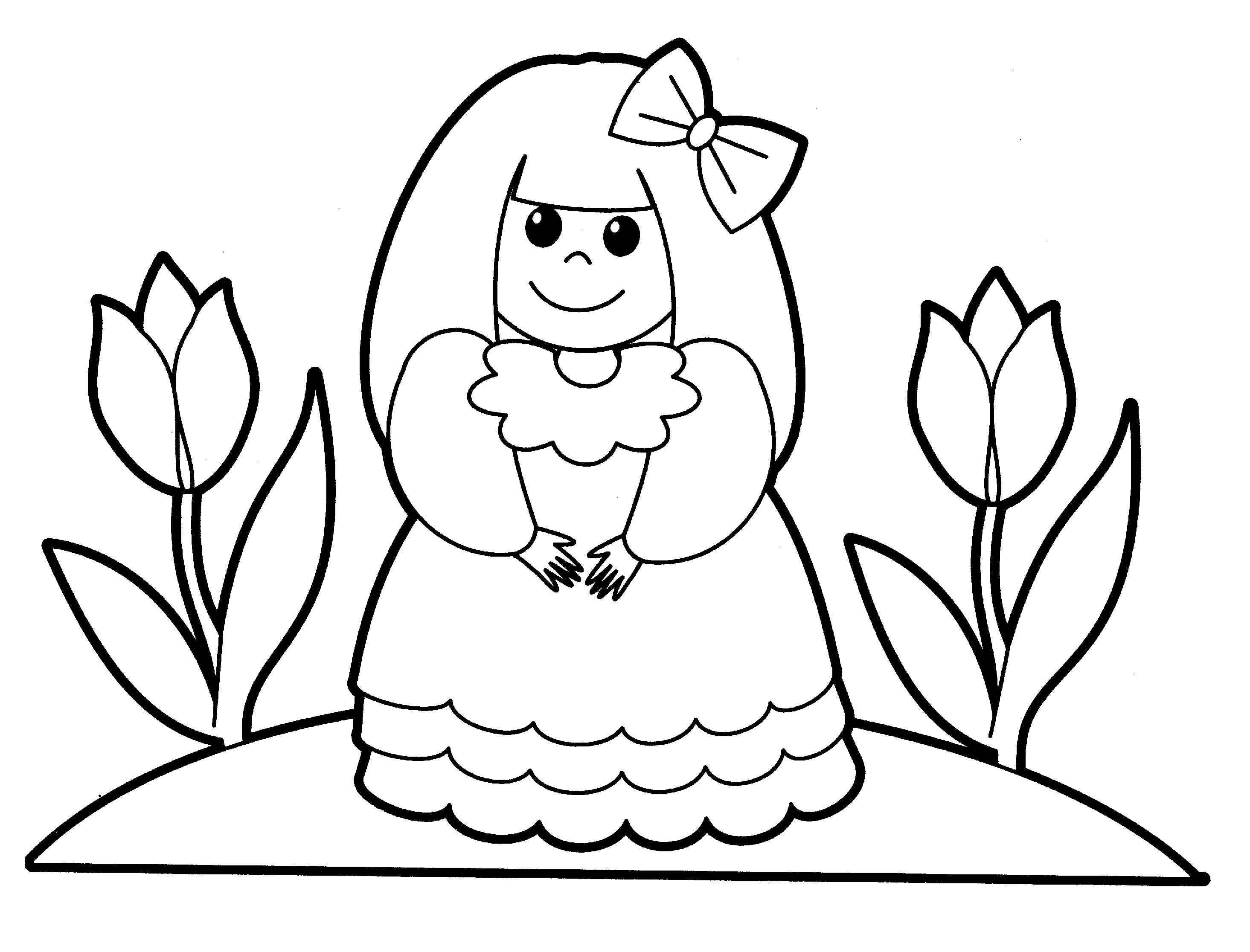 2930x2232 People Coloring Pages