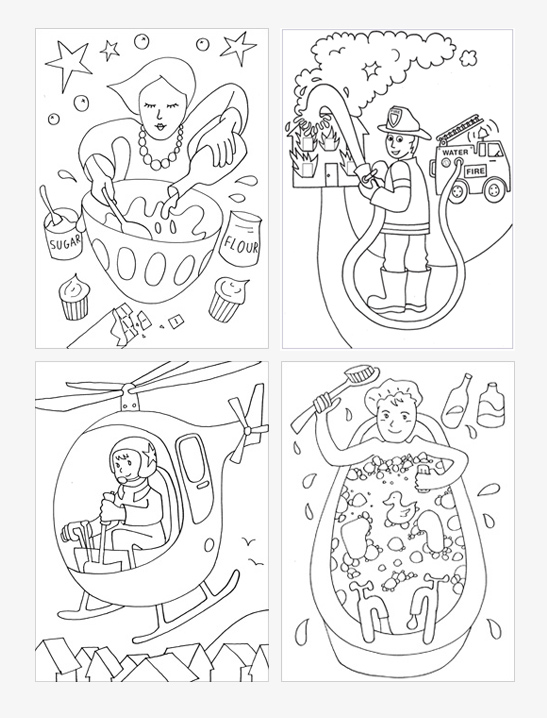 547x718 People Coloring Pages