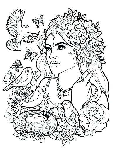 385x512 People Coloring Pages Adult Coloring Pages Of People Pin
