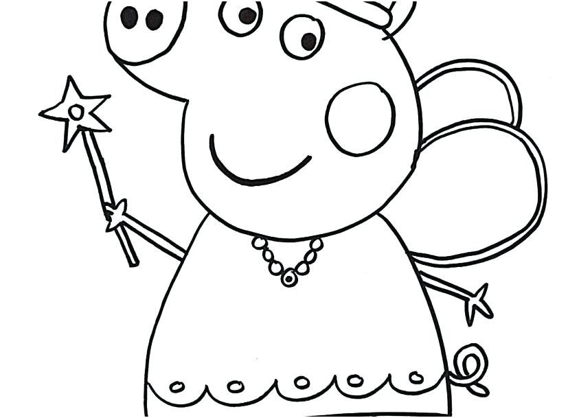 827x609 Pig Coloring Pages Pig Coloring Pages Free Peppa Pig Coloring